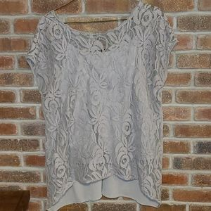 EUC Apt.9 Slit Back Lace Top with Cami